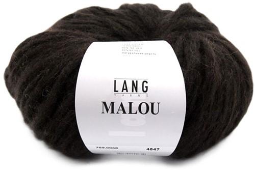 Lang Yarns Malou 68 Dark Brown