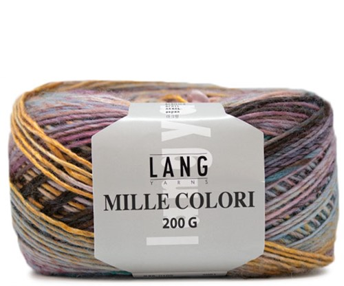 Lang Yarns Mille Colori 200 Gr. 109 Pink/Yellow/Turquoise