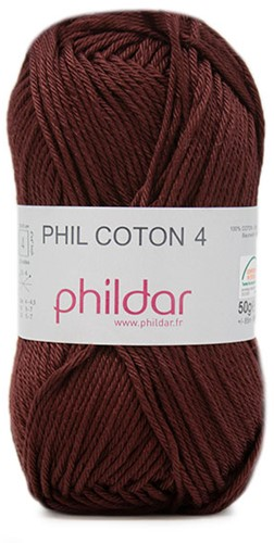 Phildar Phil Coton 4 7 Bordeaux