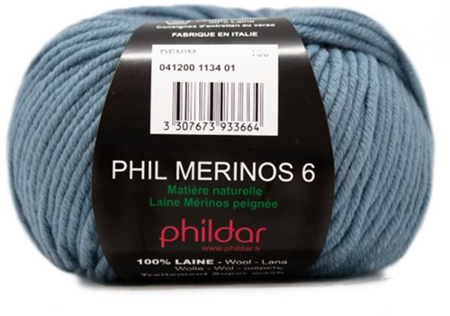 Phildar Phil Merinos 6 1134 Denim