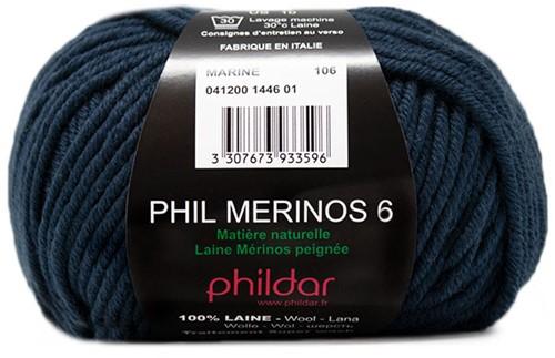 Phildar Phil Merinos 6 1446 Marine