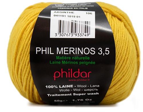 Phildar Phil Merinos 3.5 1019 Absinthe