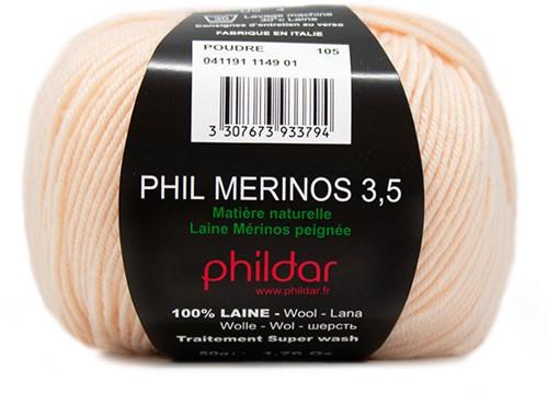 Phildar Phil Merinos 3.5 1149 Poudre