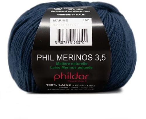 Phildar Phil Merinos 3.5 1446 Marine
