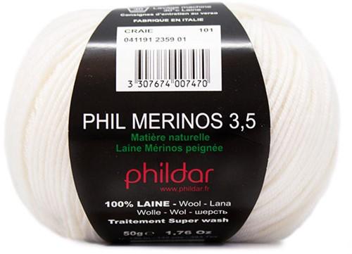 Phildar Phil Merinos 3.5 2359 Craie