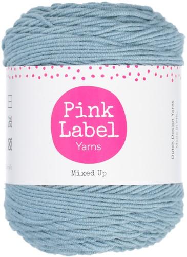 Mixed Up Waffle Baby Blanket Crochet Kit 1 Stone blue