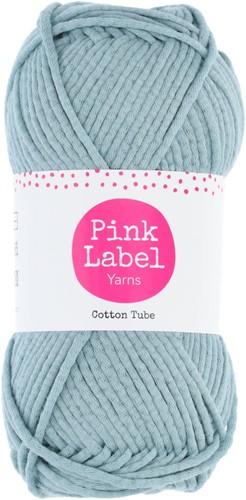 Cotton Tube Cable Cushion Crochet Kit 1 Stone blue