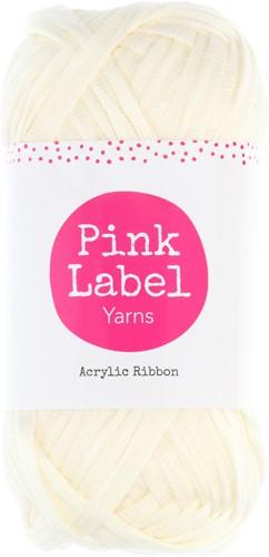 Pink Label Acrylic Ribbon 025 Jasmin - Off white