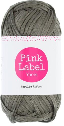 Acrylic Ribbon Round Cushion Crochet Kit 2 Dark grey