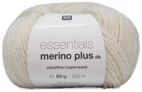 Rico Essentials Merino Plus DK 001 Creme