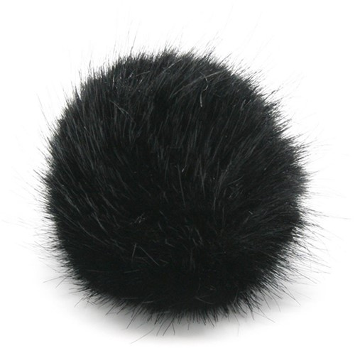 Rico Fake Fur Pompon Medium 6 Black