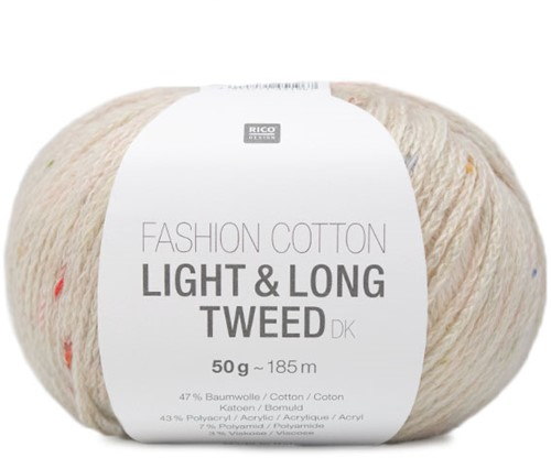 Rico Fashion Cotton Light & Long Tweed dk 001 Nature