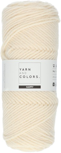 Yarn and Colors Maxi Cardigan Crochet Kit 1 L/XL Cream