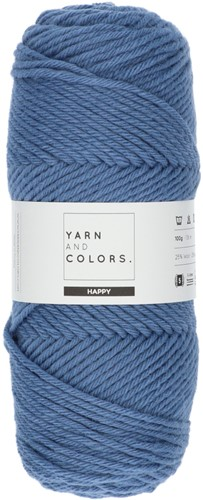 Yarn and Colors Maxi Cardigan Crochet Kit 8 S/M Denim