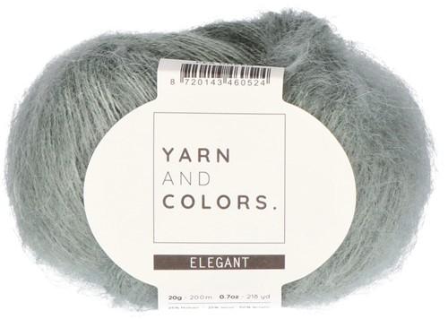 Bea Long Cardigan Without Sleeves Knitting Kit 3 Pea Green XL