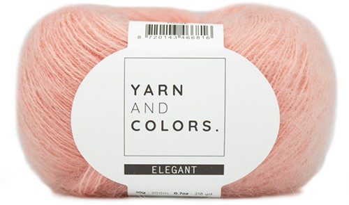 Yarn and Colors Cloud Cardigan Knitting Kit S/M 101 Rosé