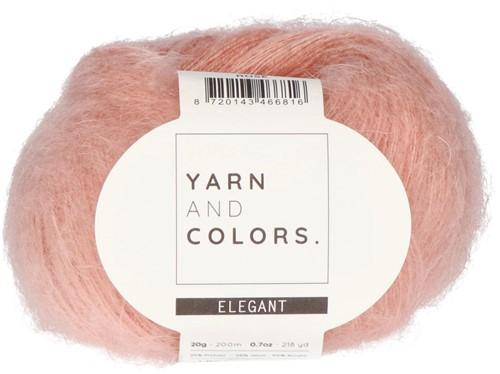Bea Short Cardigan Without Sleeves Knitting Kit 5 Rosé XXL