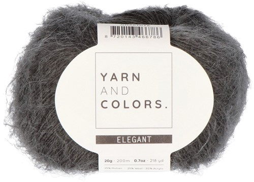 Bea Short Cardigan Without Sleeves Knitting Kit 4 Graphite XXL