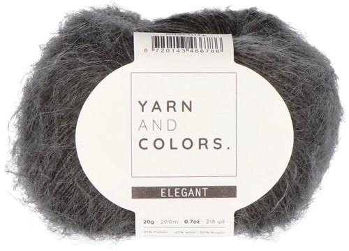 Bea Long Cardigan Without Sleeves Knitting Kit 4 Graphite XXL