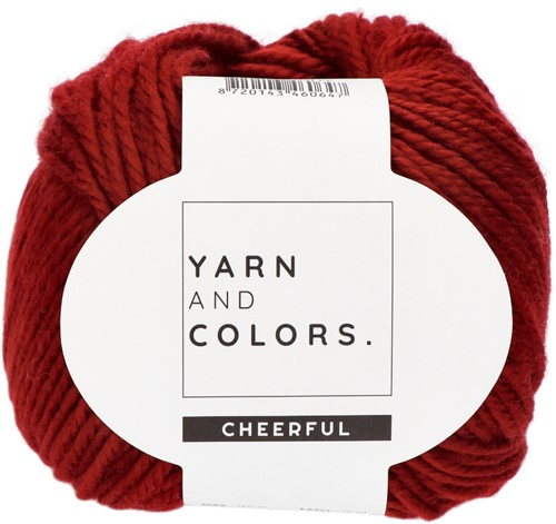 Yarn and Colors Chunky Cheerful Hat Crochet Kit 1 Burgundy