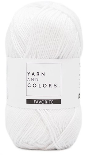 Yarn and Colors Favorite 001 White
