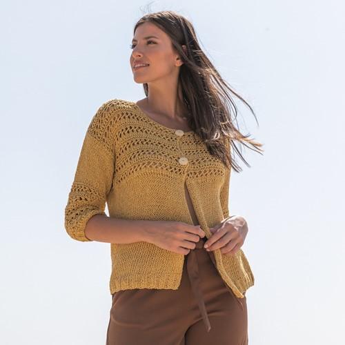 Knitting Pattern Re-Tape Lace Cardigan
