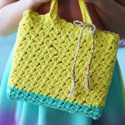 Crochet Pattern Cabotine Children's Tote Bag