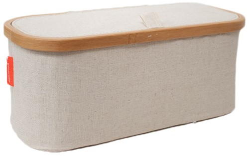 Storage Box Canvas and Bamboo Nature