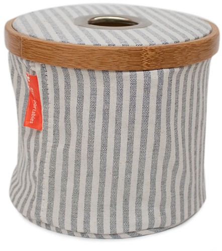 Wool-Dispenser Foldable Canvas and Bamboo S Grey Striped