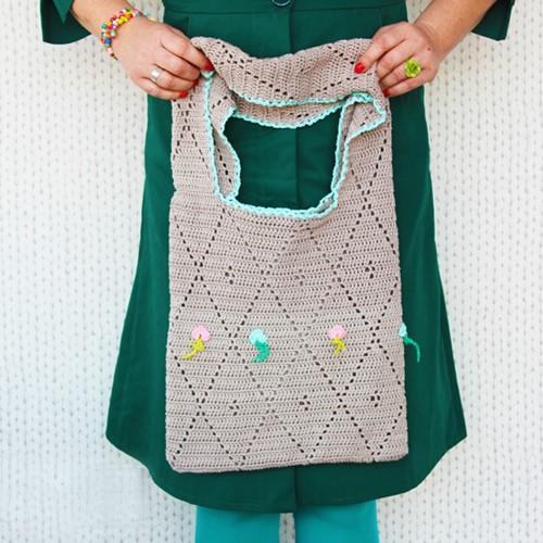 Crochet Pattern Diamond Shopper