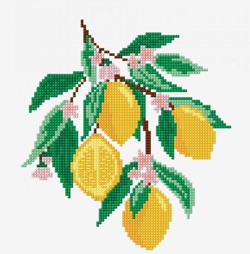 Embroidery Pattern Lemons