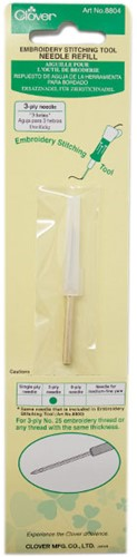 Clover Embroidery Stitching Tool Needle Refill 3-ply