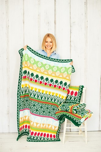 Letitia's Garden Blanket CAL Yarn Kit 1 Cottage Garden L