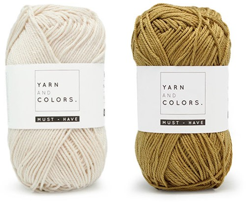Yarn and Colors Must-Have Cushion Crochet Kit 1 Cream / Gold