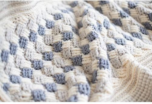 Stayhome 2020 Blanket Crochet Kit 1 Cream