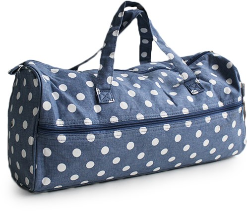 Knitting Bag Denim Polka Dot