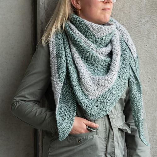 Yarn and Colors Diamond Bobble Shawl Crochet Kit