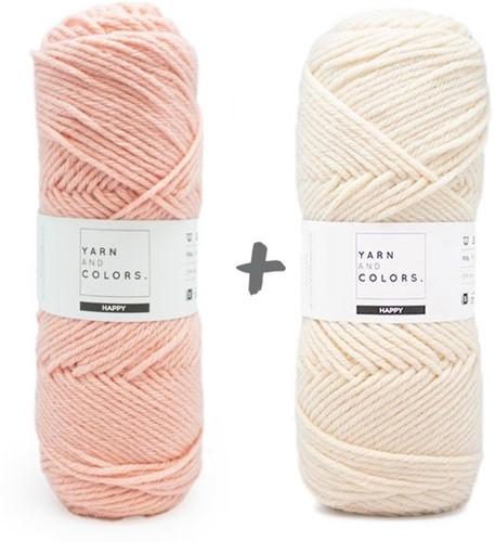 Dream Blanket 4.0 KAL Knitting Kit 6 Rosé & Cream