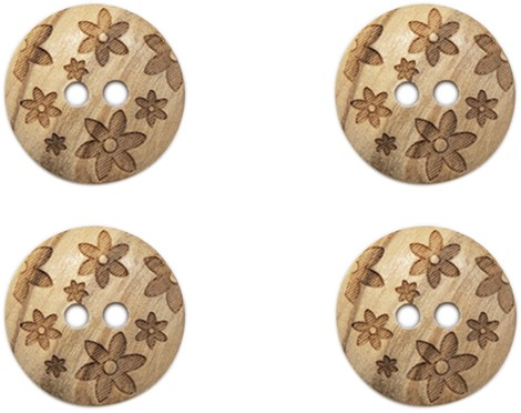 Drops Button Flowers 15mm