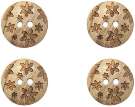 Drops Button Flowers 15mm