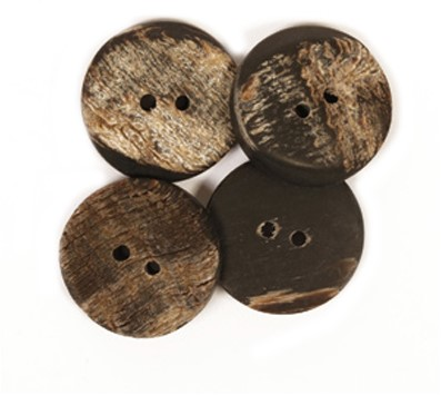 Drops Button Buffalo Horn 25mm