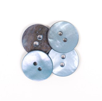 Drops Button Round Blue 15mm