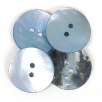 Drops Button Round Blue 20mm