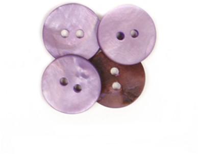Drops Button Round Purple 15mm