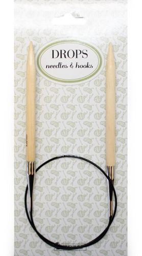 Drops Circular Knitting Needles Wood 60cm 8mm