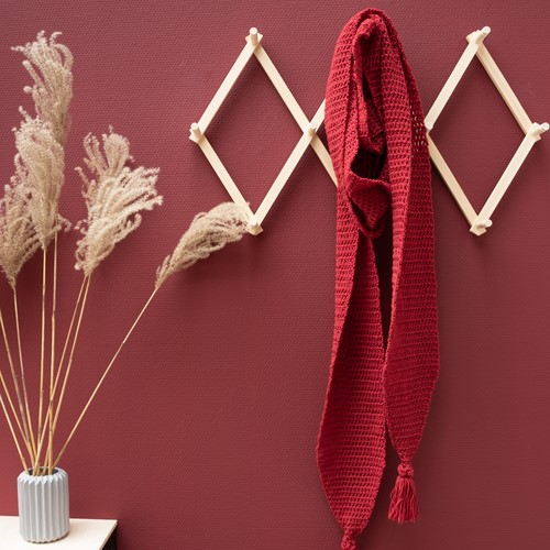 Yarn and Colors Soft Serene Scarf Crochet Kit 1 Burgundy