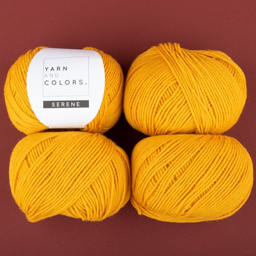 Yarn and Colors Soft Serene Socks Crochet Kit 1 Mustard