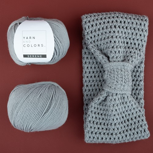 Yarn and Colors Soft Serene Headband Crochet Kit 2 Shark Grey