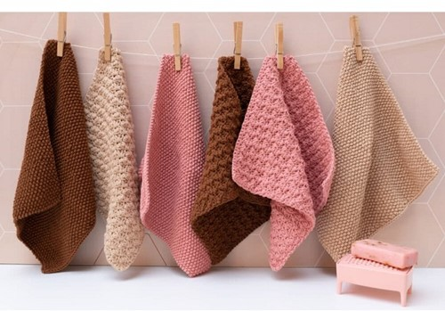 Knitting/Crochet pattern Yarn and Colors Clean Cloths