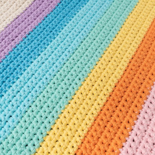 Yarn and Colors Rainbow Rug Crochet Kit 2 Pastel